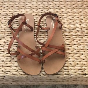 Cute Leather Summer Sandals size 7.5